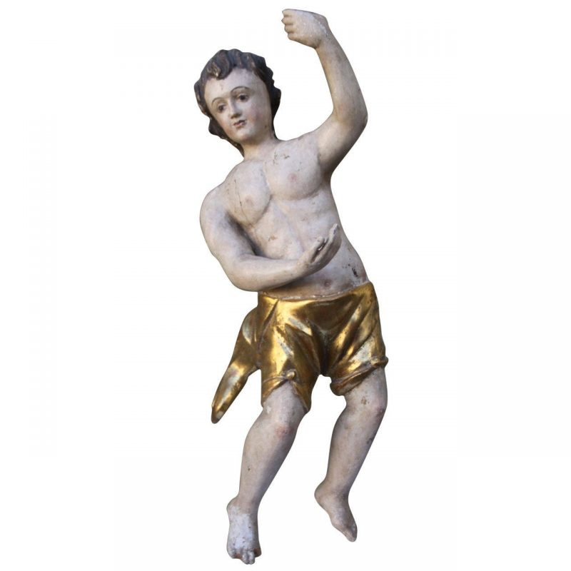 19th Century Italian Carved Statue on Lucite Base