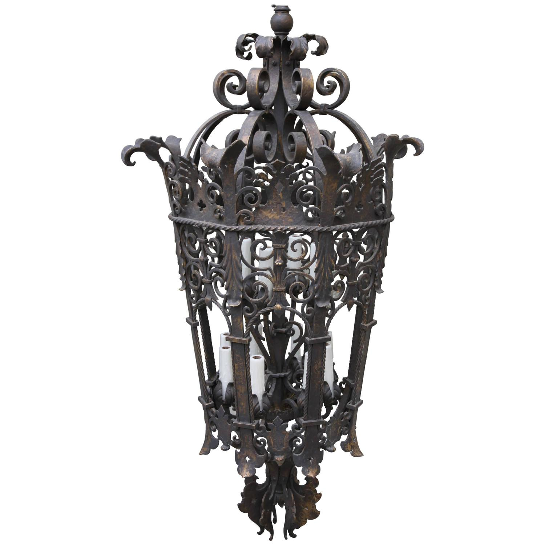 Monumental Wrought Iron Six Light Lantern Melissa