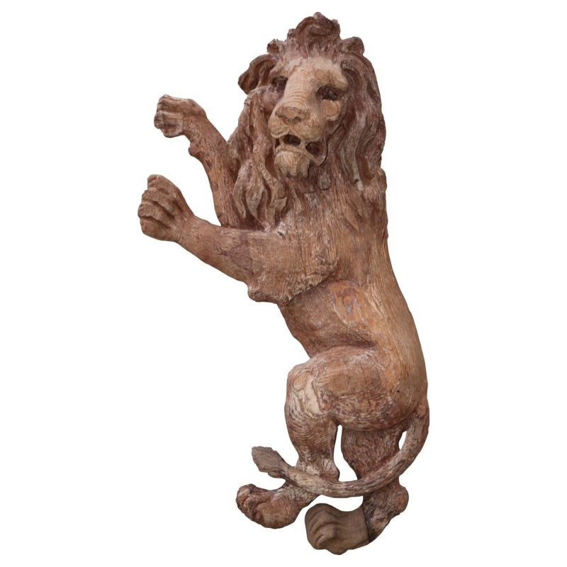 19th Century English Carved Lion