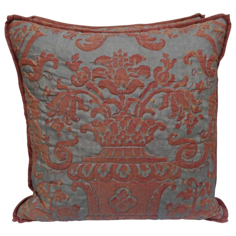Pair of Unique Quilted Fortuny Pillows