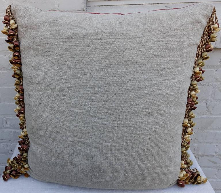 Pair of Metallic & Chenille Embroidered Silk Velvet Pillows