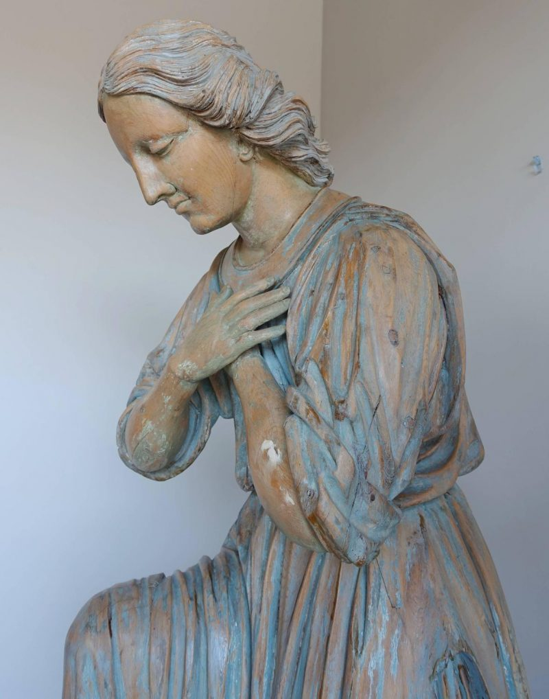 18th Century Italian Wood Carved Angels on Later Bases