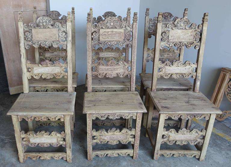Set Of 18th Century Italian Dining Chairs