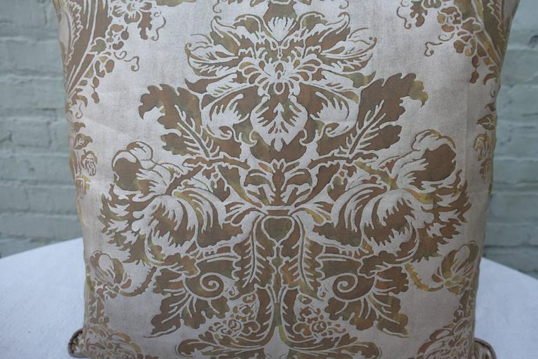 Pair of Dandola Patterned Fortuny Pillows