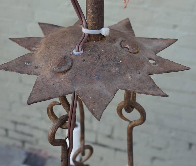 Spanish Wrought Iron Fleur De Lys Chandelier