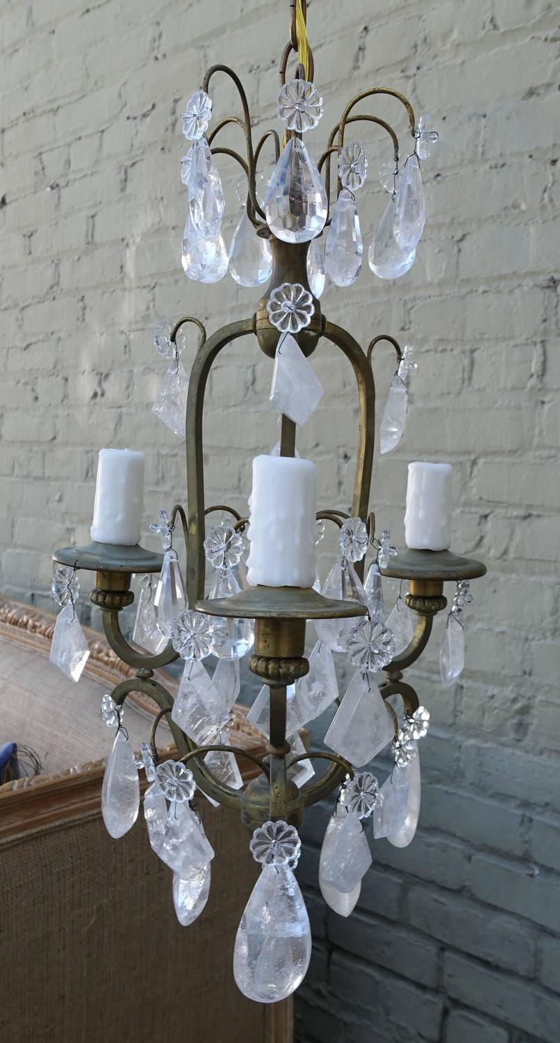 French Threelight Rock Crystal Chandelier  Melissa. Bathroom Accessories Set. Little Wolf Cabinet. Seatee. Headboard King Size. Rock Solid Naples. Roman Tub. King Platform Bed. Kitchen Remodels With White Cabinets