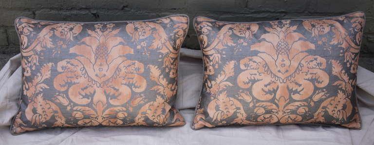 Pair of  Italian Fortuny Pillows