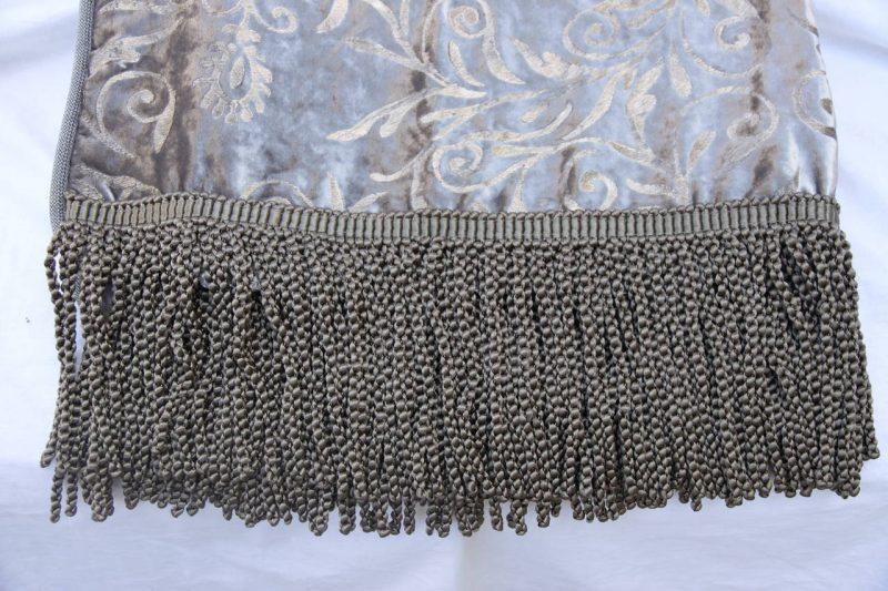 Custom Stenciled Silk Velvet Throw with Fringe