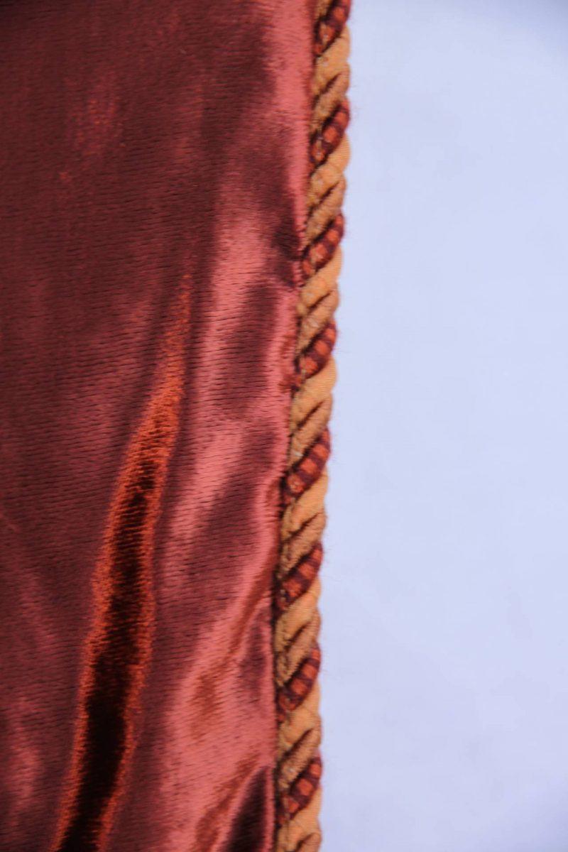 Custom Cognac Colored Stenciled Throw