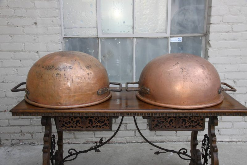 Pair of 19th Century Copper Cooking Vats