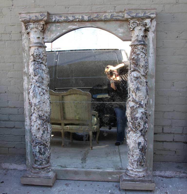 Pair of 19th Century Italian Column Mirrors