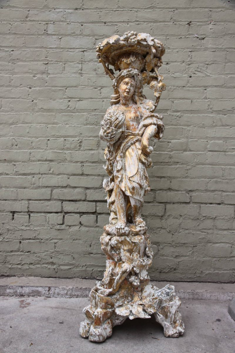 19th Century Italian Carved Planter