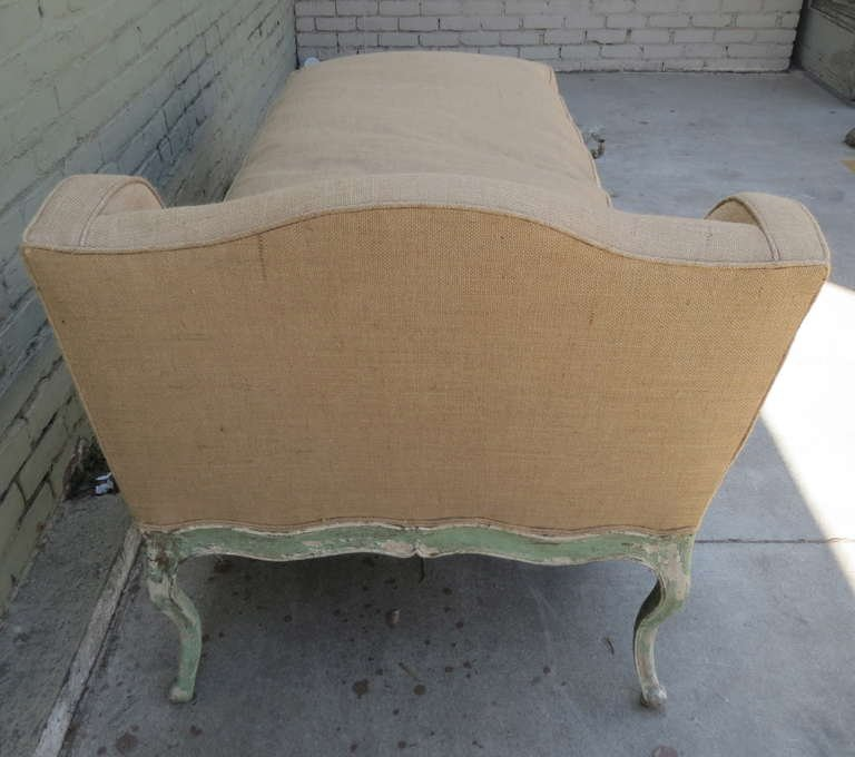 Carved Painted French Chaise C. 1860u0027s : french chaise - Sectionals, Sofas & Couches