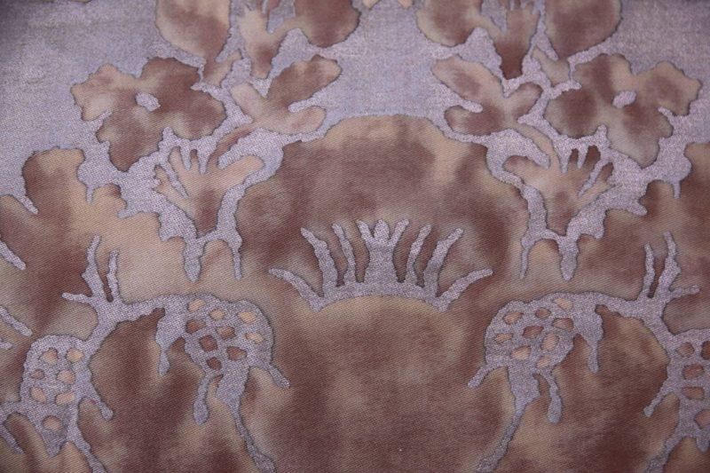Pair of Vivaldi Fortuny Pillows with Silk Velvet Back