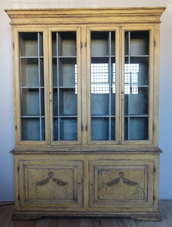 19th Century Hand-Painted French Country Cabinet