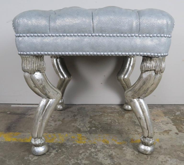 Silver Gilt Gazelle Benches by Melissa Levinson