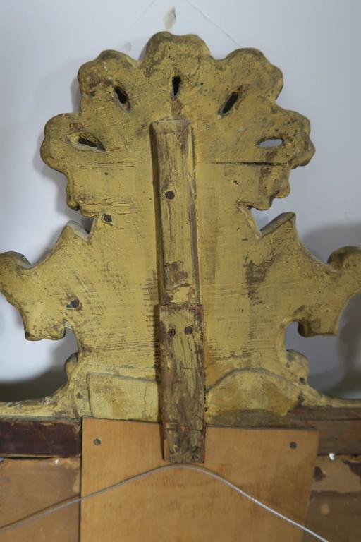 19th Century Italian Gilt Wood Mirror