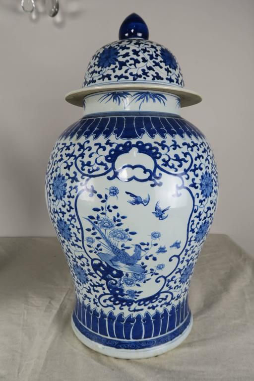 Pair of Blue and White Chinese Ginger Jars