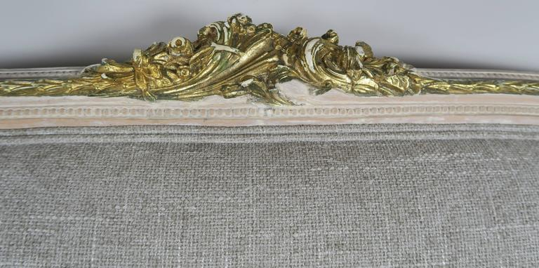 Italian Neoclassical Style Painted and Parcel-Gilt Settee