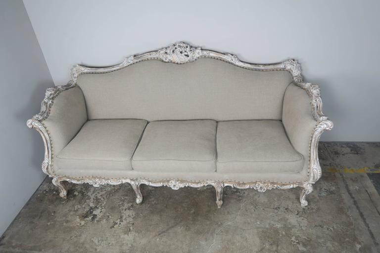 French Rococo Style Painted Sofa Circa 1930s Melissa Levinson Antiques
