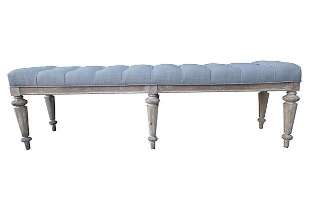 Italian Neoclassical-Style Six Leg Bench