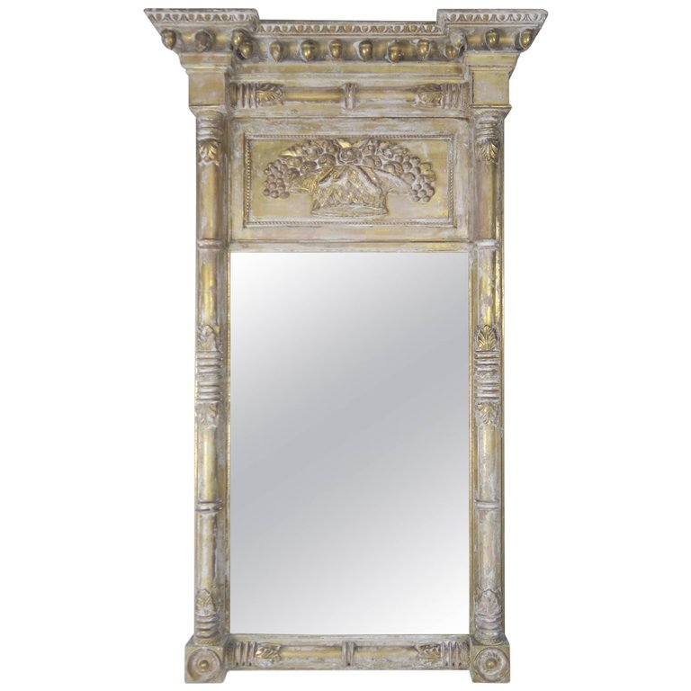 19th Century American Painted Federal Mirror