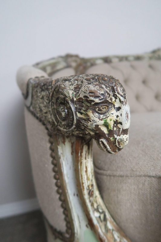 19th Century French Carved Rococo Style Sofa 3
