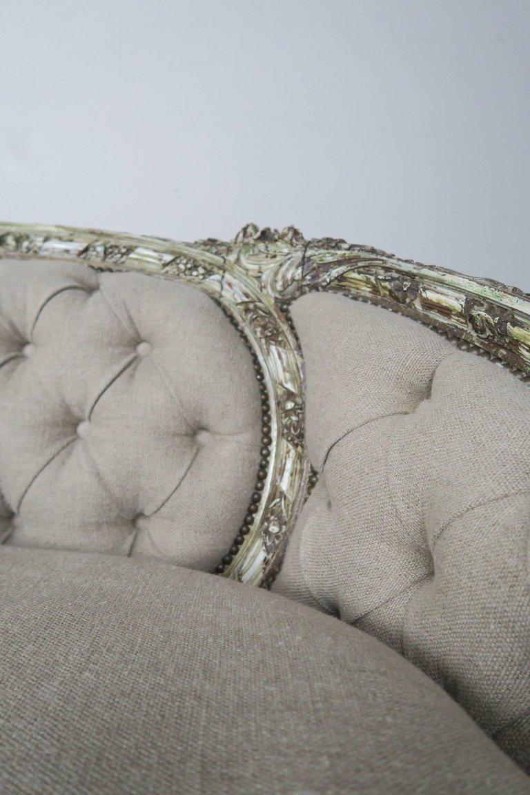 19th Century French Carved Rococo Style Sofa 4
