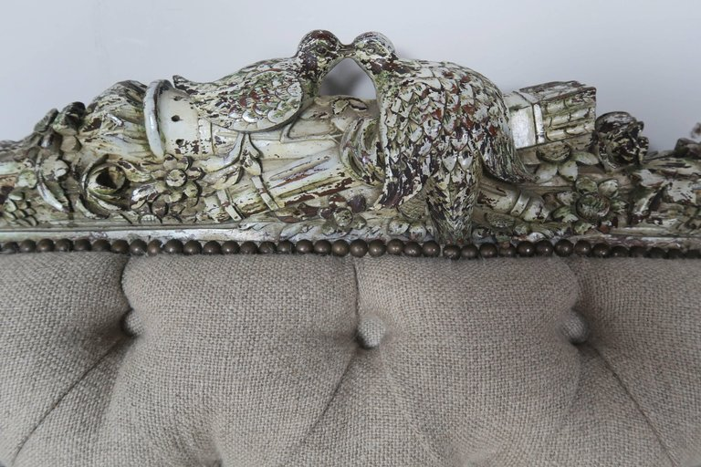 19th Century French Carved Rococo Style Sofa 5