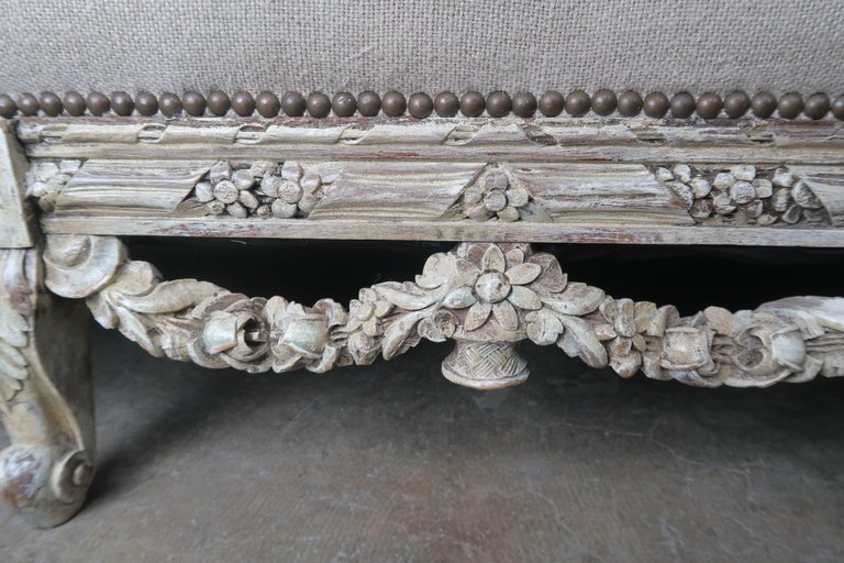 19th Century French Carved Rococo Style Sofa 7