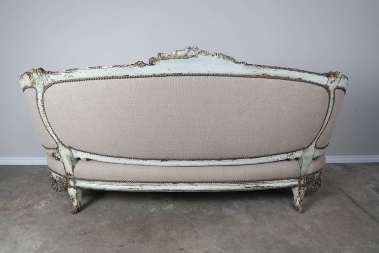 19th Century French Carved Rococo Style Sofa 8