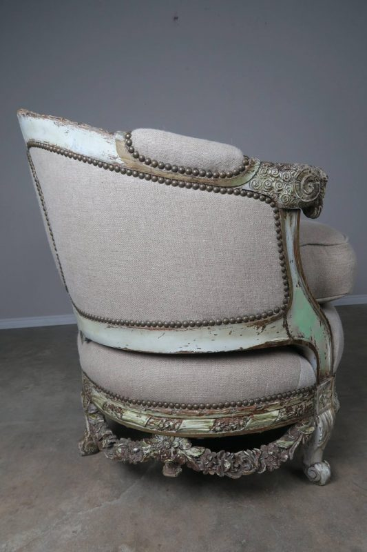 19th Century French Carved Rococo Style Sofa 9
