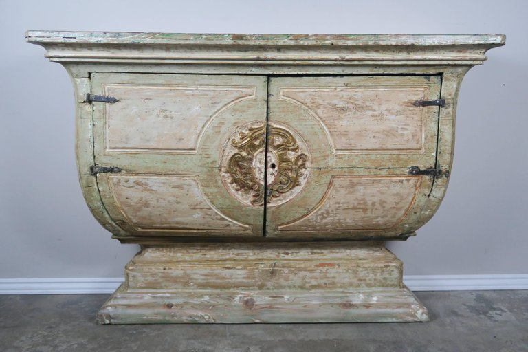 19th Century Italian Painted and Parcel-Gilt Console 1