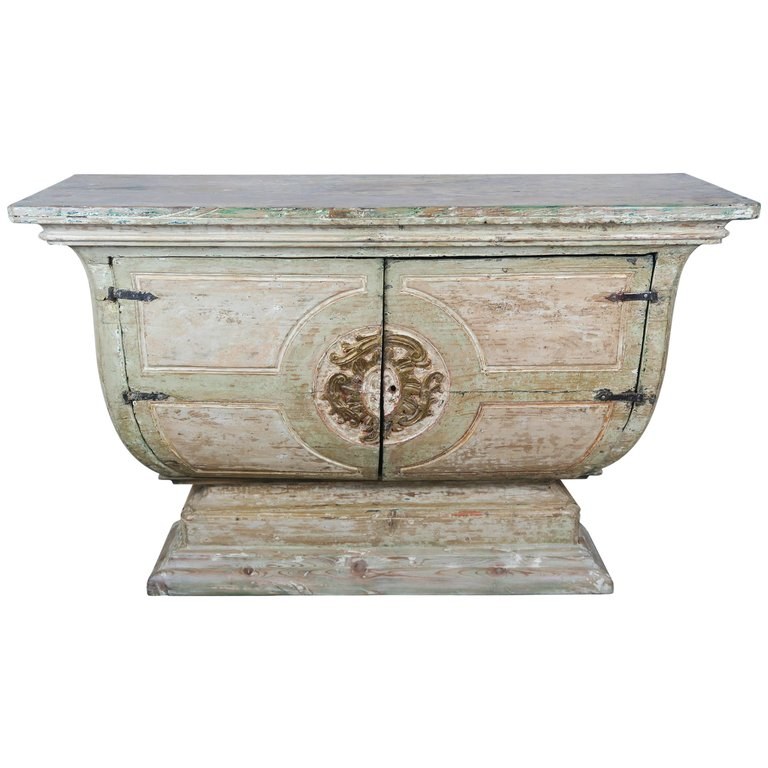 19th Century Italian Painted and Parcel-Gilt Console