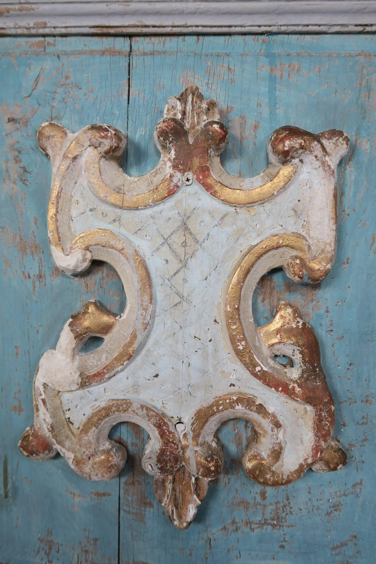 19th Century Pair of French Painted Armoire Doors 6
