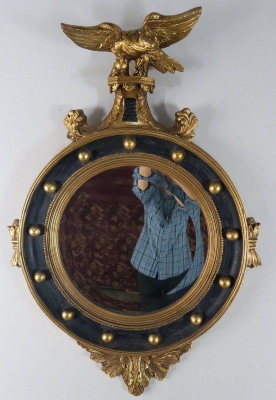 American Federal Style Painted and Parcel-Gilt Mirror with Eagle 2
