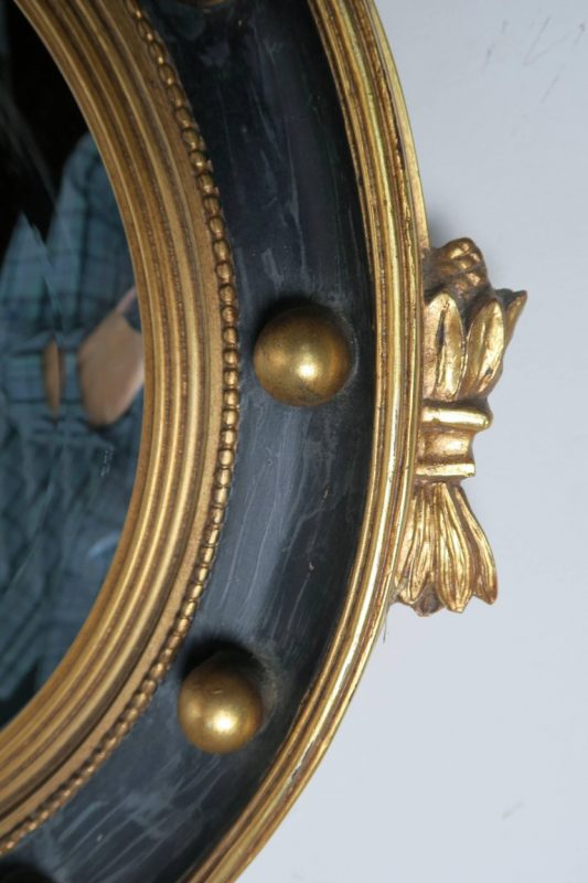 American Federal Style Painted and Parcel-Gilt Mirror with Eagle 6