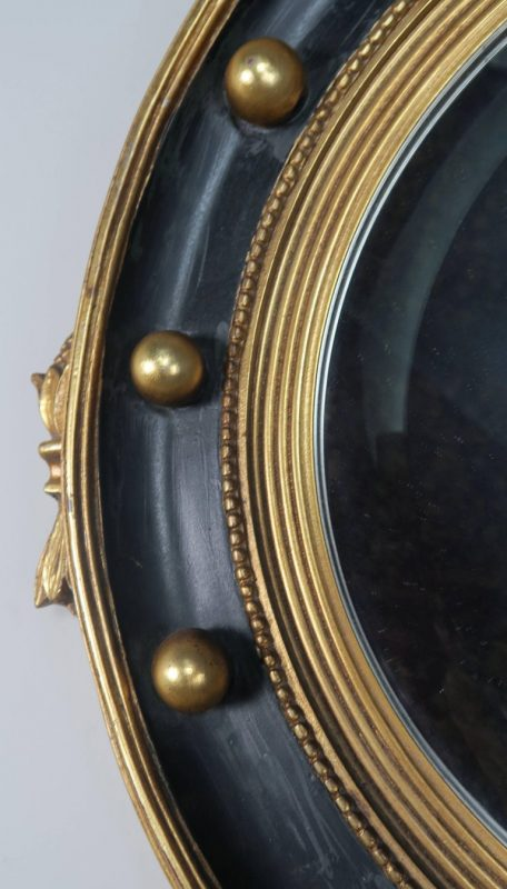 American Federal Style Painted and Parcel-Gilt Mirror with Eagle 7