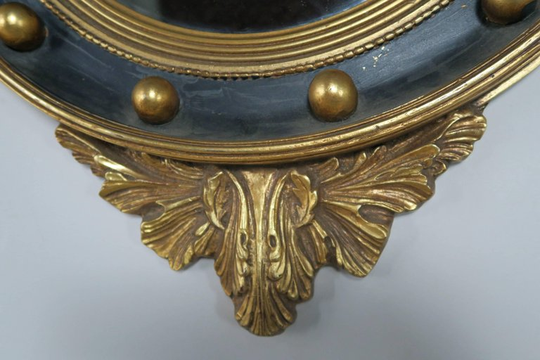 American Federal Style Painted and Parcel-Gilt Mirror with Eagle 8