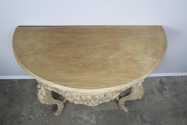 French Rococo Style Console with Centre Drawer, circa 19001