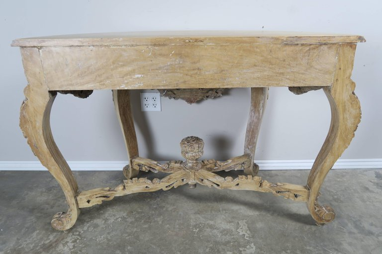 French Rococo Style Console with Centre Drawer, circa 19006
