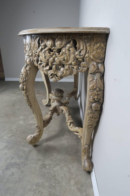 French Rococo Style Console with Centre Drawer, circa 19007