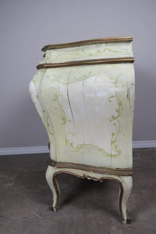 Pair of French Painted Bombay Commodes, circa 1930s 7