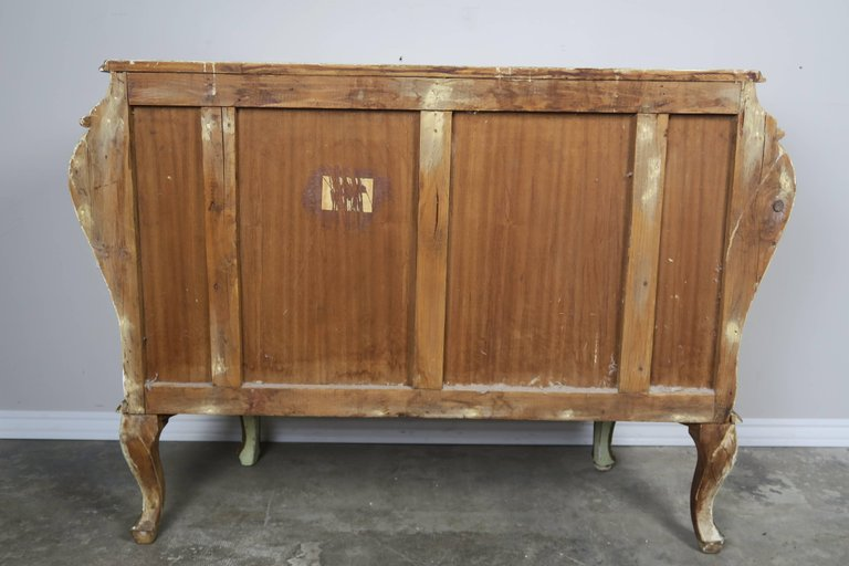 Pair of French Painted Bombay Commodes, circa 1930s 9