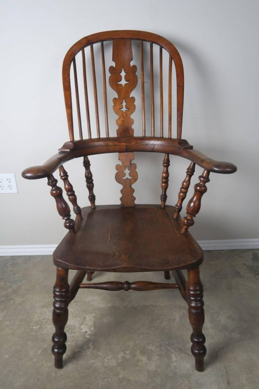 Set of Eight 19th Century English Windsor Armchairs3