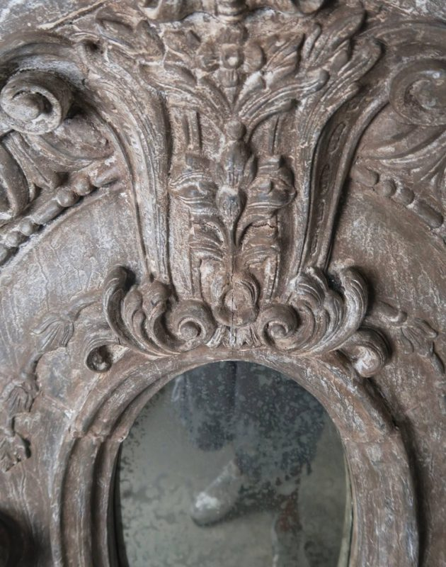 Swedish Carved Painted Mirror1