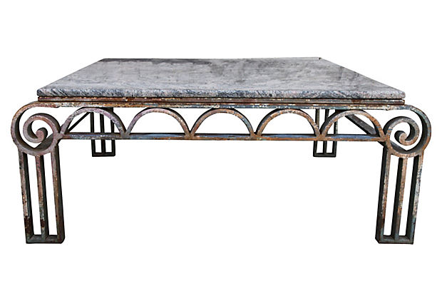 Art Deco Wrought Iron Coffee Table