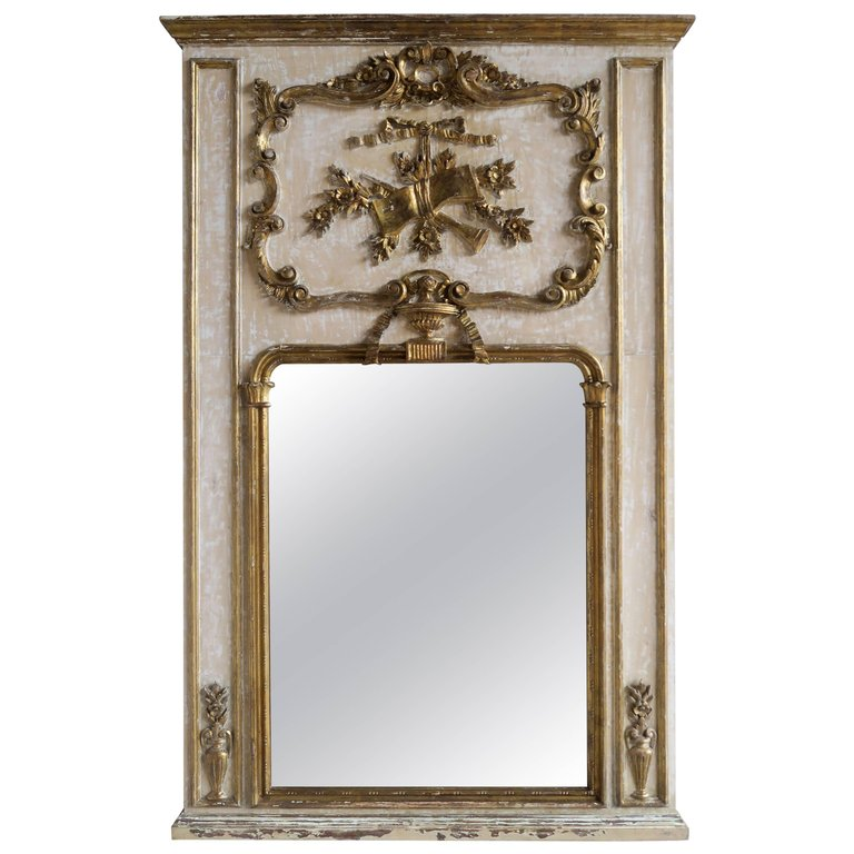 French Painted and Parcel-Gilt Mirror, circa 1930 | Melissa Levinson ...