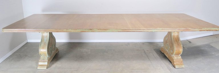 Italian Carved and Painted Dining Room Table, circa 1930s $12,000 2