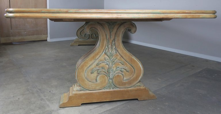 Italian Carved and Painted Dining Room Table, circa 1930s $12,000 3